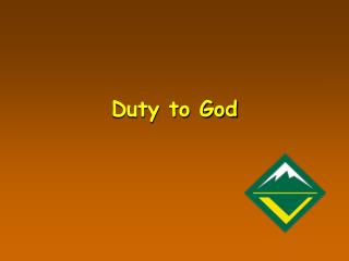 Duty to God