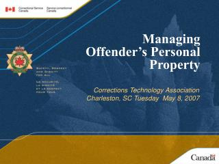 Managing  Offender s Personal Property
