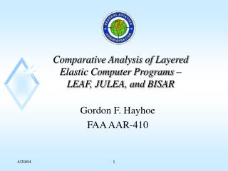 Comparative Analysis of Layered Elastic Computer Programs   LEAF, JULEA, and BISAR