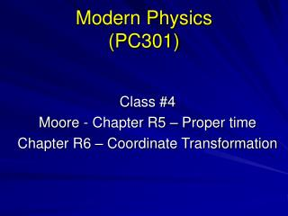 Modern Physics PC301