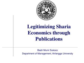 Legitimizing Sharia Economics through Publications