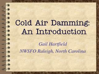 Cold Air Damming:   An Introduction