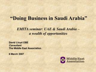 """Doing Business in Saudi Arabia"""