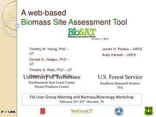 A web-based Biomass Site Assessment Tool