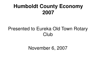 Economics at  Humboldt State University