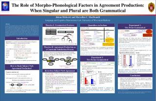 Jelena Mirkovic and Maryellen C. MacDonald Language and Cognitive Neuroscience Lab, University of Wisconsin-Madison