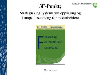 3F-Punkt;   Strategisk og systematisk oppl ring og kompetanseheving for medarbeidere