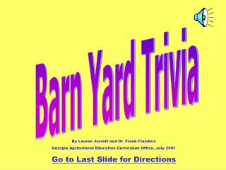 Barn Yard Trivia