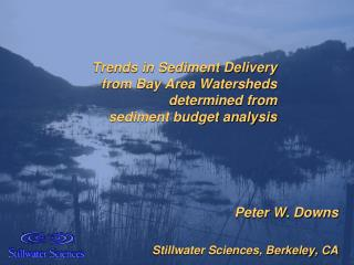 Trends in Sediment Delivery  from Bay Area Watersheds  determined from  sediment budget analysis