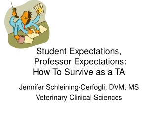 Student Expectations,  Professor Expectations: How To Survive as a TA