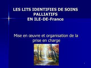 LES LITS IDENTIFIES DE SOINS PALLIATIFS  EN ILE-DE-France