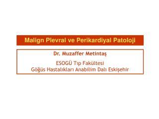 Dr. Muzaffer Metintas ESOG  Tip Fak ltesi G g s Hastaliklari Anabilim Dali Eskisehir