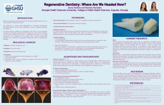 Regenerative Dentistry: Where Are We Headed Now