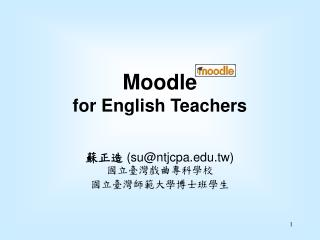 Moodle  for English Teachers