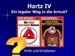 Hartz IV Ein legaler Weg in die Armut
