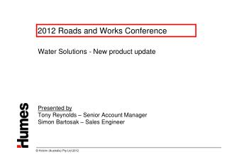 2012 Roads and Works Conference