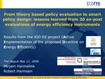 From theory based policy evaluation to smart policy design: lessons learned from 20 ex-post evaluations of energy effici