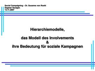 Social Campaigning   Dr. Susanne von Roehl Dagmar Sucigan  13.11.2007