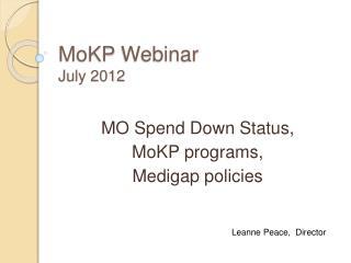 MoKP Webinar July 2012