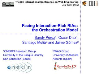 Facing Interaction-Rich RIAs:  the Orchestration Model