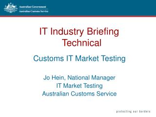 IT Industry Briefing    Technical