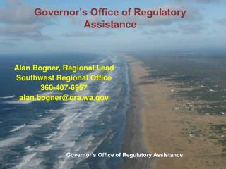 Governor s Office of Regulatory Assistance