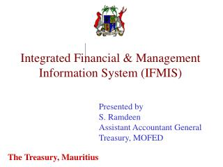 Integrated Financial  Management Information System IFMIS