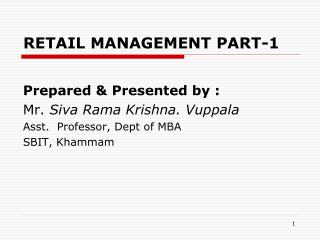 RETAIL MANAGEMENT PART-1