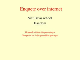 Enquete over internet