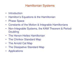 Hamiltonian Systems