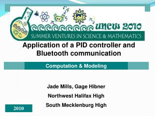 Application of a PID controller and Bluetooth communication