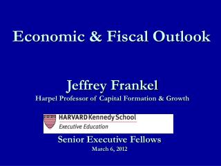 Jeffrey Frankel Harpel Professor of Capital Formation  Growth