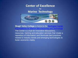 Center of Excellence for  Marine  Technology