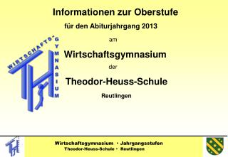 Informationen zur Oberstufe       f r den Abiturjahrgang 2013