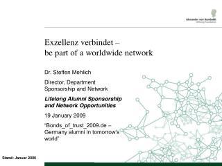 Exzellenz verbindet   be part of a worldwide network