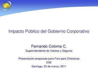 Impacto P blico del Gobierno Corporativo