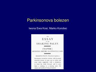 Parkinsonova bolezen