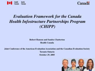 Evaluation Framework for the Canada Health Infostructure Partnerships Program CHIPP