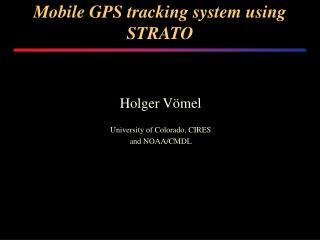 Mobile GPS tracking system using STRATO