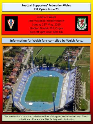 Football Supporters  Federation Wales FSF Cymru Issue 23
