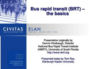 Bus rapid transit BRT   the basics