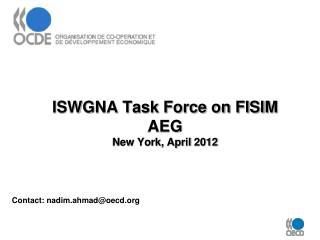 ISWGNA Task Force on FISIM  AEG  New York, April 2012