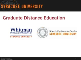 Graduate Distance Education