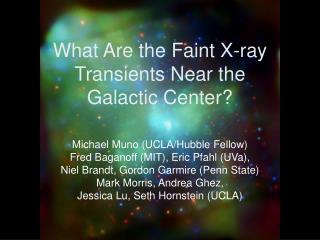 What Are the Faint X-ray Transients Near the  Galactic Center