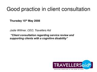 Good practice in client consultation