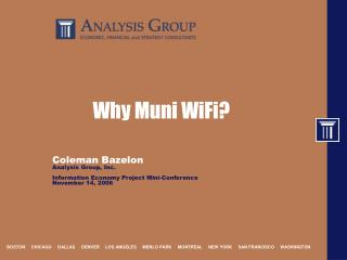 Why Muni WiFi