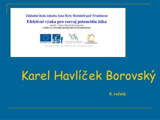 Karel Havl cek Borovsk