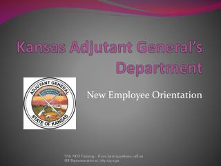 Kansas Adjutant General s Department