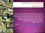 Digital elevation modeling
