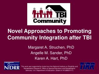 Novel Approaches to Promoting Community Integration after TBI